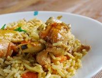 Chicken Machboos Stock Photo