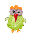 Chicken made of fresh vegetables on white background Stock Photo