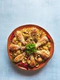 Chicken Makbous Al-Thahera, traditional food in Arabian region.  royalty free stock image