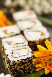 Chicken Maki Sushi Roll Stock Images