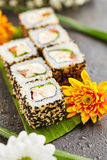 Chicken Maki Sushi Roll Royalty Free Stock Images