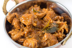 Chicken Malabar on white Stock Photography