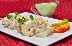Chicken Malai Tikka Stock Photo