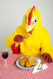 Chicken Man - Cannibalism Royalty Free Stock Images