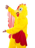 Chicken Man Presentation Royalty Free Stock Photos