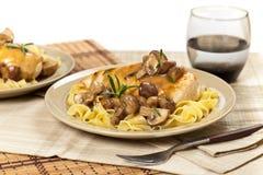 Chicken Marsala dinner Stock Image