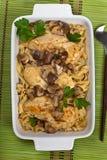 Chicken Marsala dinner Stock Images