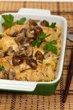 Chicken Marsala dinner Royalty Free Stock Photo