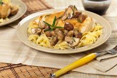 Chicken Marsala dinner Stock Photos