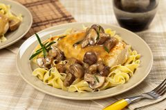 Chicken Marsala dinner Royalty Free Stock Photo