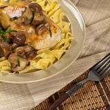 Chicken Marsala dinner Royalty Free Stock Photography
