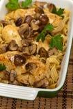 Chicken Marsala dinner Royalty Free Stock Image