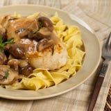 Chicken Marsala dinner Stock Photo