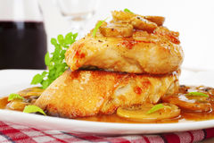 Chicken Marsala Italian Food Royalty Free Stock Photography