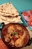 Chicken masala. Indian chicken masala with roti Royalty Free Stock Photos