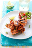 Chicken masala skewers Royalty Free Stock Images