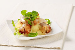 Chicken and mashed potato Stock Image