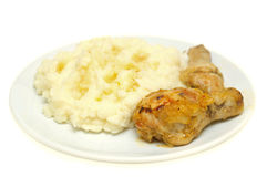 Chicken and mashed potatoes Royalty Free Stock Photo