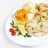 Chicken with mashed potatoes Royalty Free Stock Photo