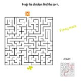 Chicken maze for kids with a funny chicken royalty free illustration