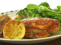Chicken meal, closeup Stock Images