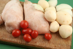 Chicken meal preparation Royalty Free Stock Images