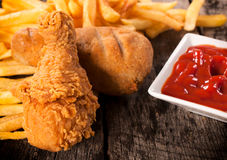 Chicken meal Royalty Free Stock Image