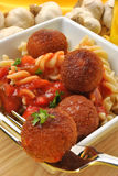 Chicken meat balls with pasta Royalty Free Stock Photo