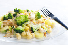 Chicken meat with broccoli Royalty Free Stock Images