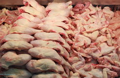 Chicken meat in a butcher shop Royalty Free Stock Image
