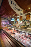Chicken meat counter at Cork city market Royalty Free Stock Images