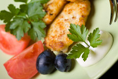 Chicken meat cutlets Royalty Free Stock Photography