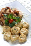 Chicken meat with italian arom Stock Images