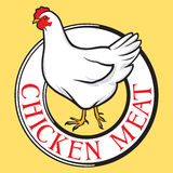 Chicken meat label Royalty Free Stock Images