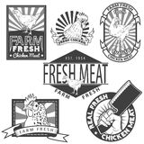 Chicken meat. 100% natural fresh chicken labels Royalty Free Stock Photo