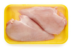 Chicken meat package Stock Photos