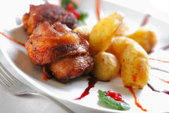 Chicken meat with Potato Stock Image