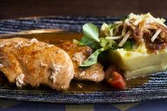 Chicken meat puree stock photos