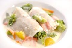 Chicken meat rolls Stock Image