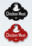 Chicken Meat Seal / Sticker In Vectors Stock Image