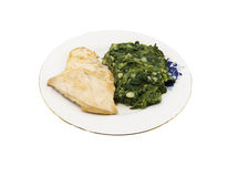 Chicken meat with spinach Stock Photography