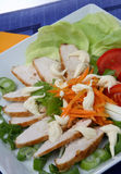 Chicken meat with vegetable. On plate Stock Photography