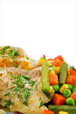 Chicken meat with vegetables Royalty Free Stock Photo