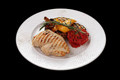 Chicken meat and vegetables Royalty Free Stock Image