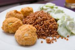 Chicken meatballs dish Royalty Free Stock Photo