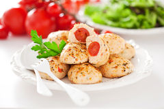 Chicken meatballs Stock Photos