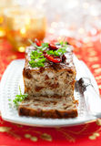 Chicken Meatloaf. With Sun-Dried Tomatoes for Holiday Royalty Free Stock Photos