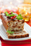 Chicken Meatloaf. With Sun-Dried Tomatoes for Holiday Royalty Free Stock Images