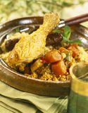 Chicken and Merguez Couscous Royalty Free Stock Photo