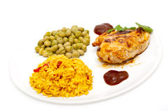 Chicken with mexican style rice Stock Photography